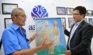 «Азия ТВ» посетил известный художник Таалайбек Забидинов