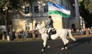 В Ташкенте прошел очередной конный парад