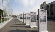 В честь 100-летия Т.Усубалиева на площади Ала-Тоо открылась фотовыставка
