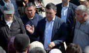 Президент Жапаров ознакомился с ходом восстановления инфраструктуры с.Максат Лейлекского района