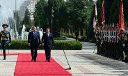 В Душанбе прошла церемония официальной встречи Садыра Жапарова с Эмомали Рахмоном